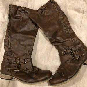 Carlos brown riding boots
